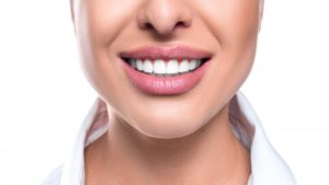 close-up of a woman's bright smile
