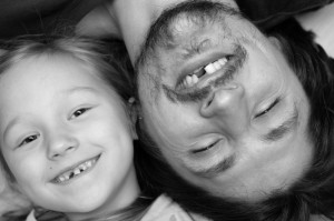 father daughter matching missing teeth need full-mouth reconstruction